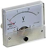 uxcell アナログ電圧計 DC 0-15V クラス2.5 電流計電圧計 電圧計ゲージ ホワイト