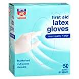 Rite Aid Gloves, Latex Medical, Large, 50 ea