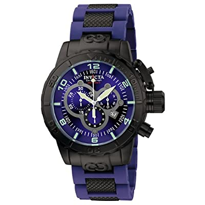 Invicta Men's 6682 Corduba Collection Chronograph Blue Polyurethane and Black Steel Watch