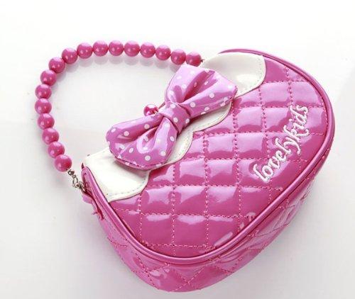 Great Deal High Quality Baby Kids Girl Messenger School Bag Elegant Princess Pink Shoulder Bag Bowknot front-104940