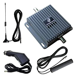 Car Truck 12v 24v Dual Band 55db GSM 3G CDMPA PCS 850MHz-1900MHz Cell Phone Mobile Signal Booster Repeater Amplifier for Vehicle with Antenna