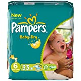 pampers baby dry taille 6 (+16 kg) pack eco 4x 33 soit 132 couches