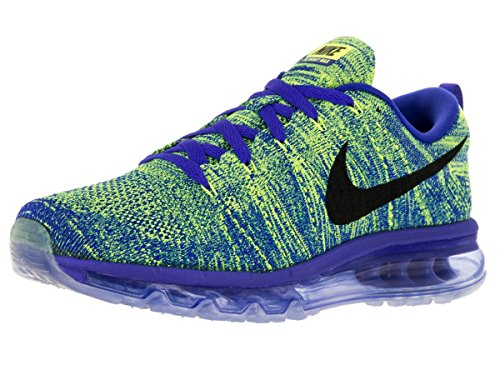 Nike Men's Flyknit Max Racer Blue/Black/Volt/Chlk Bl Running Shoe 10 Men US (Nike Air Max Flyknit compare prices)