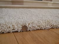 Soft Touch Shaggy Ivory Cream Thick Luxurious Soft 5cm Dense Pile Rug. Available in 7 Sizes from Rugs Supermarket