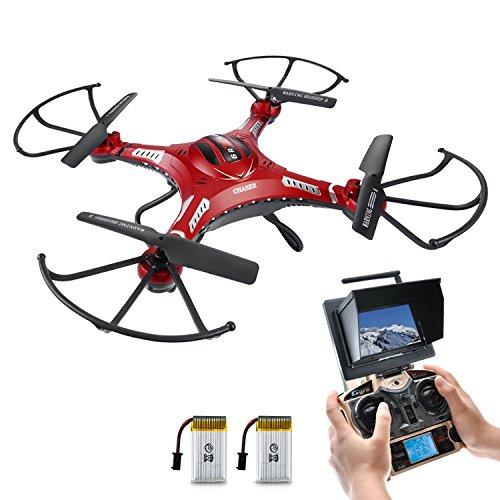 Potensic® F183D 5.8GHz 4CH 6-Axis Gyro RC Quadcopter Drone avec caméra HD, 360 degrés Eversion Fonction, FPV Moniteur