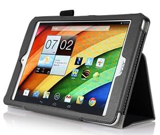VSTN® 全 4 色 Acer Iconia A1-830 Tablet 専用 超薄型 PU保護ケース付 ハンドストラップ (For Acer A1-830, ブラック)