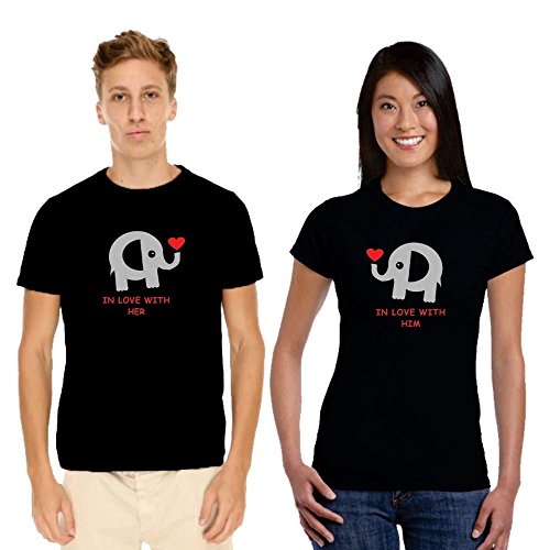 TYYC Cute In Love with You Cotton Couple Tshirts