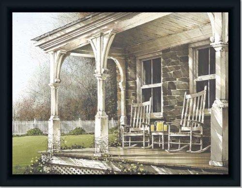 Front Porch Rocker Americana Landscape Art Print Framed front-738755