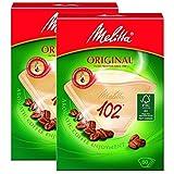 Genuine Original Melitta 102 Coffee Machine Brown Paper Filters (2 Packs of 80)