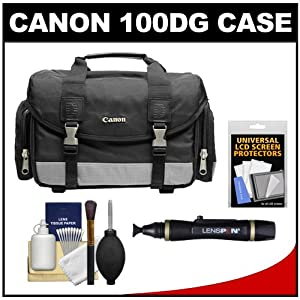 Canon 100DG Digital SLR Camera Case Gadget Bag + Accessory Kit for EOS 7D, 5D, 60D, 50D, Rebel T3, T3i, T2i, T1i, XS