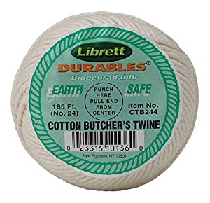 Librett Durables Butchers Twine, Cotton, 185-Feet