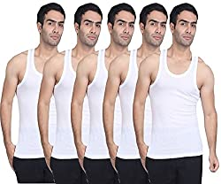 Amul Men's Cotton Vests (Pack of 5)