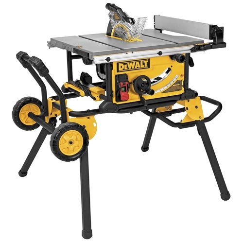 Best Price DEWALT DWE7491RS 10-Inch Jobsite Table Saw with 32-1/2-Inch Rip Capacity and Rolling Stan...