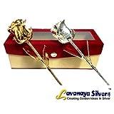 Lavanaya Gold & Silver Rose velvet Box with free heart shape key ring photo frame worth rs.199/-