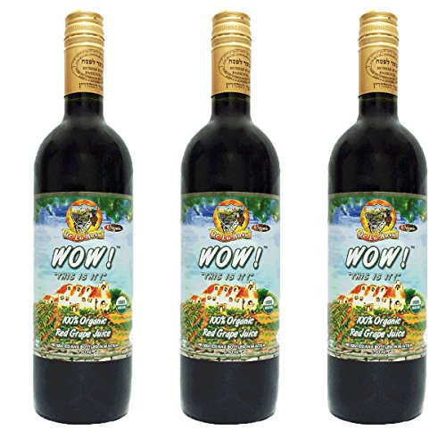 De La Rosa 100% USDA Certified Organic Vegan Gluten Free GMO-Free Grape Juice of Austria Certified Kosher 25.4 oz 3 pack (Pantry Grape Juice compare prices)