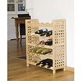 PRIMIER - Scaffale porta-bottiglie di vino, contiene 25 bottiglie, dimensioni 64 x 76 x 25 cm