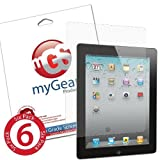 myGear Products DIAMOND DiamondDust Screen Protectors for iPad 2 & The new iPad 3 3rd Generation (6 Pack) ~ myGear Products