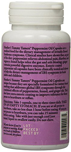 Tummy tamers peppermint oil capsules