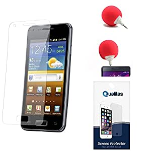 Qualitas Ultra Clear Pack of 8 Anti-Glare Anti-Scratch Anti-Fingerprint Screen Protector for Lenovo A6000 + 3.5mm Audio Dock Sponge Speaker