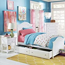 Hot Sale Lea Lola 4 Piece Panel Bedroom Set In White