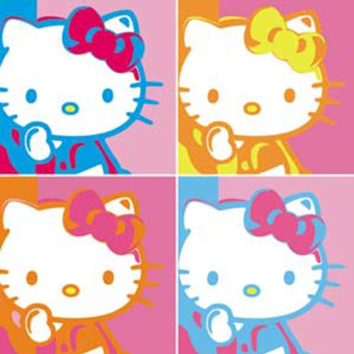 Licenses Products Hello Kitty Warhol Sticker