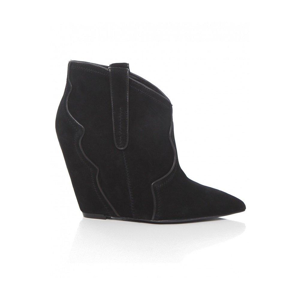 Ash Women's Janet Kid Suede Boots 4UK/37EU Black