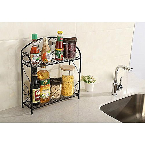 VANRA Spice Rack Kitchen Countertop Spice Stand Holder Jars Storage ...