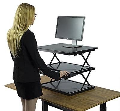 CHANGEdesk Adjustable Standing Desk Conversion | Move between sitting & standing in seconds | Ergonomic Stand Up Desk Converter for laptops, desktops & iMacs