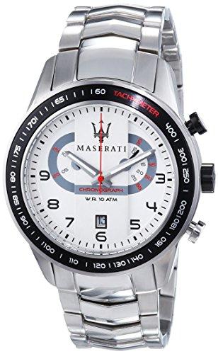 Maserati  - Reloj de cuarzo para hombre, correa de acero inoxidable