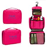 Polyester/ Nylon Ladies Mens Wash Bag Travel Bag Toiletries Makeup Bag Zipper (Pink)