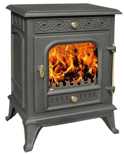 Vortigern 7kW CAST IRON WOODBURNING MULTIFUEL STOVE V9 - genuine CE certificate issued in the UK.