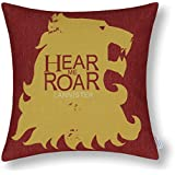 Euphoria Home Decorative Cushion Covers Pillows Shell Cotton Linen Blend A Game of Thrones Houses Badages House Lannister 45 X 45cm
