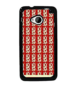 PrintDhaba B Pattern D-1823 Back Case Cover for HTC ONE M7 (Multi-Coloured)