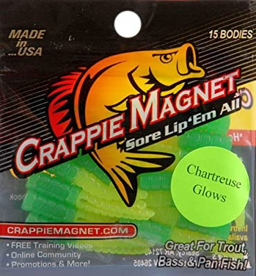 "Leland Lures 1 3/4"" Crappie Magnets - Chartreuse Glow 15 pack from Leland Lures"