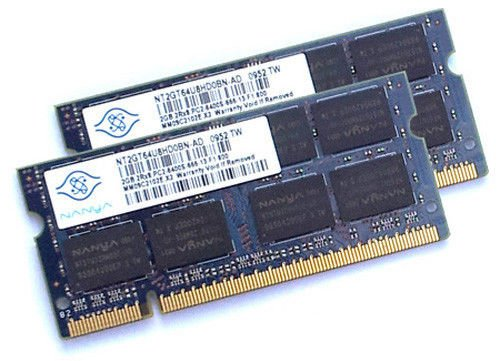 Gotor® 2x 2GB Notebook RAM Nanya 4GB DDR2 800MHz PC2-6400 SO-DIMM Arbeitspeicher