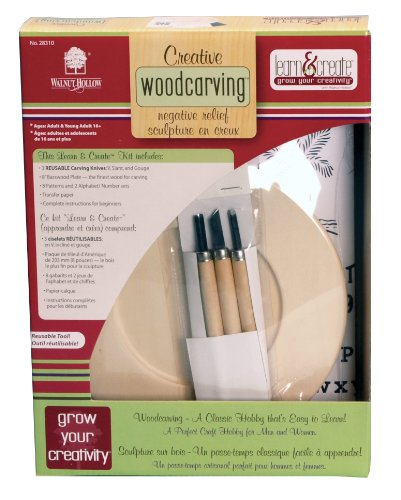 Walnut hollow creative woodcarving negative relief kit