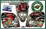 2013 MINNESOTA WILD Team Signed FULL SIZE Goalie MASK - PARISE - KOIVU - Autographed NHL Helmets and Masks
