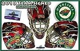 2013 MINNESOTA WILD Team Signed FULL SIZE Goalie MASK - PARISE - KOIVU - Autographed NHL Helmets and Masks