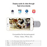 iPeli 3 In 1 Flash Drive 32GB USB Flash Drive [Apple MFi Certified] with Lightning Connector Memory Stick Storage for iPhone 5/5s/6/6s/6 Plus iPad Air iPad Mini iPod Mac Laptop Computer PC Android Smartphone(Silver)