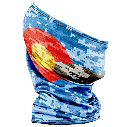 buy Fishmasks Single Layer Neck Gaiter - Lightweight, Fishing Protection From Sun, Wind And Moisture - Made In USA - UPF 50+ Moisture-Wicking Fabric - Colorado Digi Camo for sale