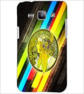 PrintDhaba Abstract Design D-5624 Back Case Cover for SAMSUNG GALAXY J1 (Multi-Coloured)