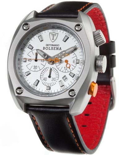 DeTomaso Men's Bolsena Chronograph Watch SL1552C-CH Leather
