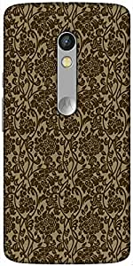 Snoogg Flowy Motif Hard Back Case Cover Shield For Motorola X Play
