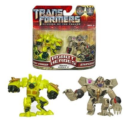 Transformers 2 Revenge of the Fallen Robot Heroes Action Figures - Springer vs. Starscream
