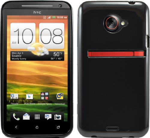 Black Protective Rubber Hard Gel Tpu Case Cover For Sprint Htc Evo 4G Lte