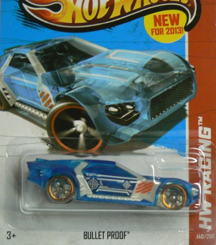 Hot Wheels HW Racing 140/250 Blue Bullet Proof - 1