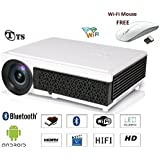 TS HD LED Android Wi-Fi Projector For Business,Education,Office & Home Cinema Solutions. 4000Lumens,Lamp Life 50000hrs,Max Screen Size 200inch Etc.