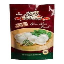 Contes Pasta Company Spinach and Cheese Ravioli Pasta, 12 Ounce -- 6 per case.