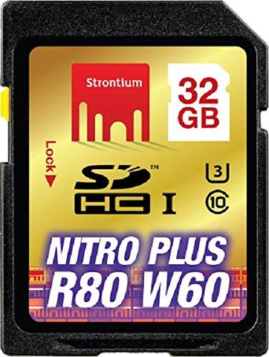 Strontium SRP32GTFU1C Nitro Plus 32GB MicroSDHC UHS-I/U3 (80MB/s) MemoryCard