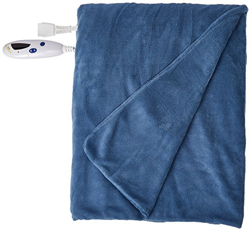 Biddeford 4430-906434-500 Electric Heated MicroPlush Throw, 50-Inch by 62-Inch, Denim (Biddeford Heated Throws compare prices)